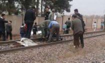 برخورد قطار با عابر پیاده در اراک