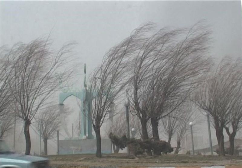 سرعت باد در استان مرکزی
