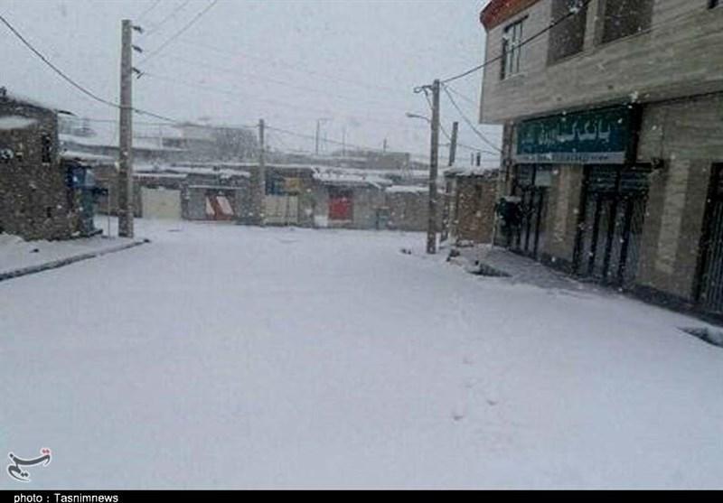 برف بهاره شهرستان زرندیه
